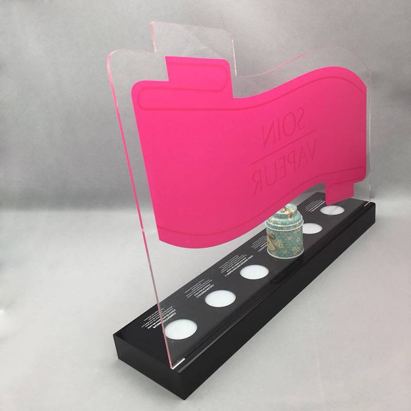 LED燈發光化妝品壓克力展示架