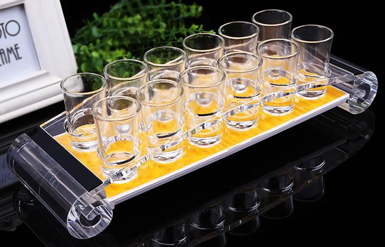 橋形透明亞加力酒杯架