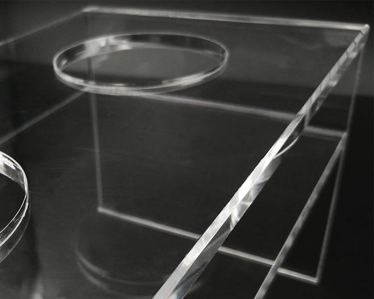 H型2圓孔透明亞加力酒杯架