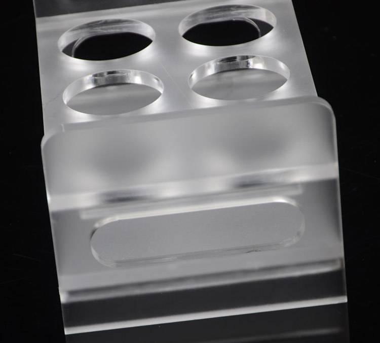 KTV專用磨砂面6孔酒杯膠架