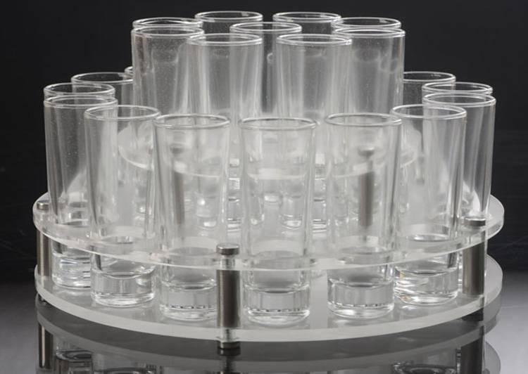 三層磨砂亞加力酒杯架