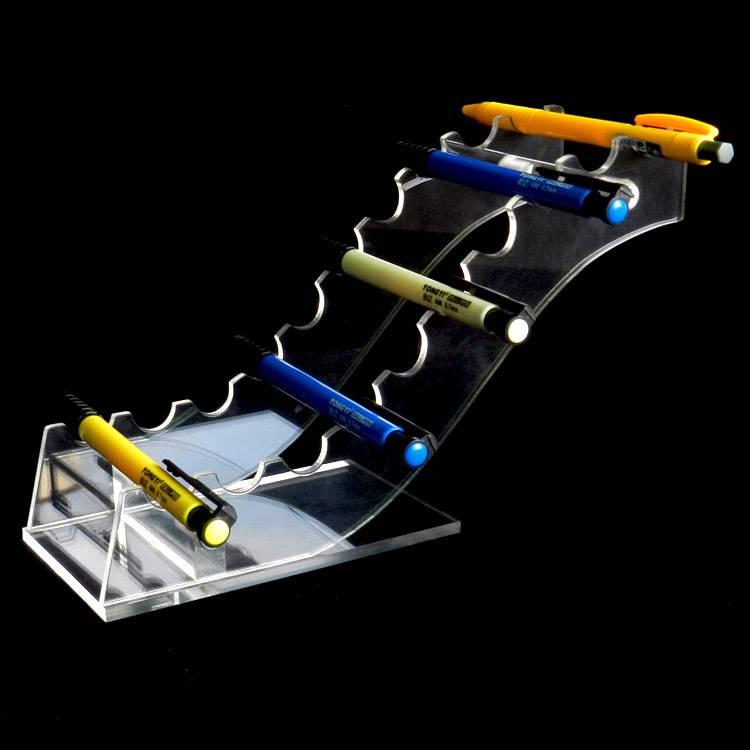 傾斜橋型10支筆展示亞加力膠架