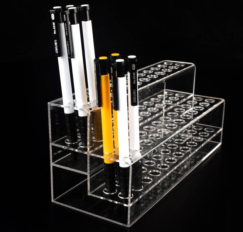 通用型兩層試管文具筆透明膠架