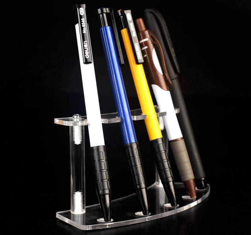 5孔弧形可分拆亞加力筆架