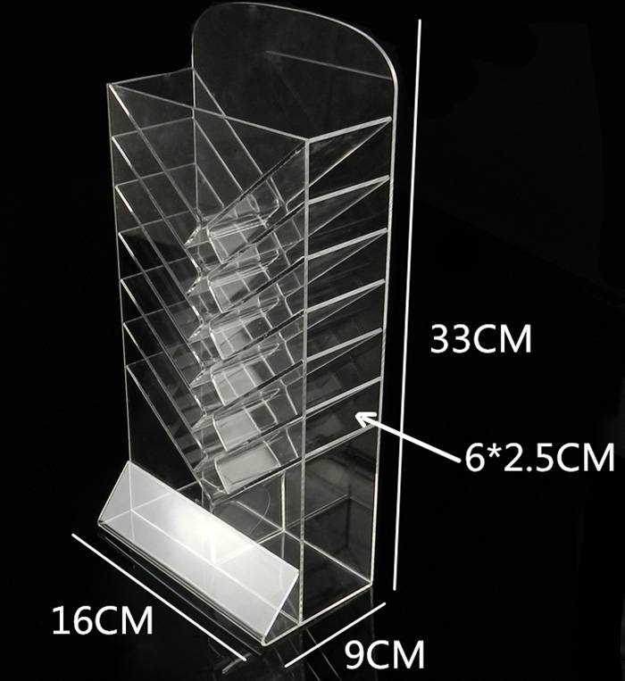 Acrylic-Clear-Office-Home-Desk-Top-Pen-Holder-7-Tier-Display-Stand-XH62-2