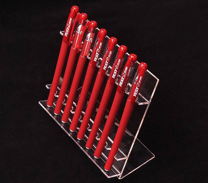 Clear-L-Shaped-Acrylic-Pen-Stand-for-8-Pens-XH59-2