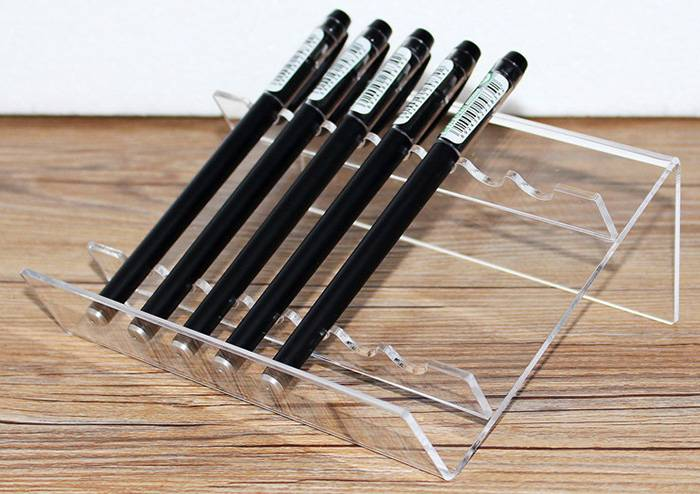 Clear-L-Shaped-Acrylic-Pen-Stand-for-8-Pens-XH59-5